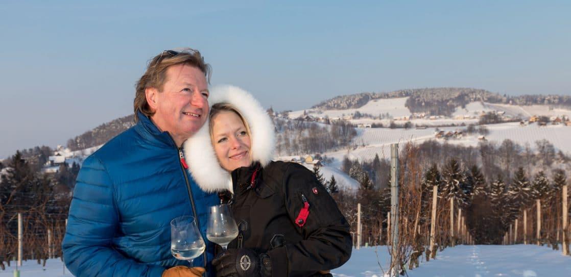 Andreas und Barbara genießen den Winter